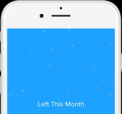 Swish App Spending Tracker Screenshot - Left to Spend